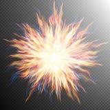 Explosionen den stora smällen, brand brast EPS 10 Royaltyfria Foton