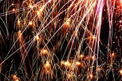 Explosionen der Farbe im nächtlichen Himmel #1 Stockfotografie