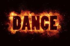 Explosionen för text för brännskadan för dansbrandflammor exploderar Fotografering för Bildbyråer