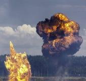 Explosiones Foto de archivo libre de regalías