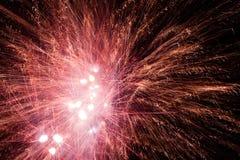Explosiones de los fuegos artificiales Fotografía de archivo