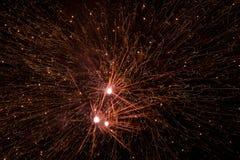 Explosiones de los fuegos artificiales Fotos de archivo libres de regalías