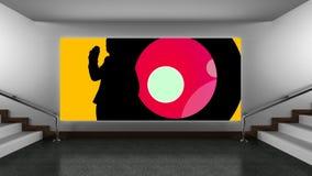 Explosiones del color en lona almacen de metraje de vídeo