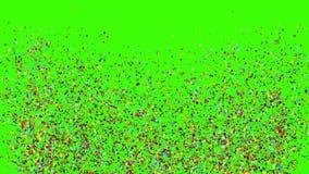 Explosiones del tostador de palomitas de maíz del partido del confeti ilustración del vector