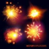 Explosiones del vector Imagenes de archivo