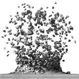 Explosionförstörelse för konkret yttersida Rivningstenbackgro vektor illustrationer