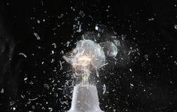 explosionlampa Royaltyfria Foton
