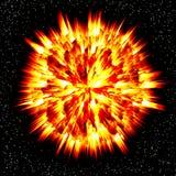 explosionplanet royaltyfri illustrationer