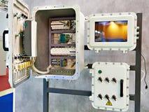 Explosionproof ask för elektrisk utrustning royaltyfri bild