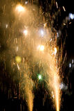 Explosions. From fireworks fill the frame on the 4th of July in Rhode Island, USA royalty free stock image