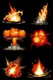 Explosions 01 Images libres de droits