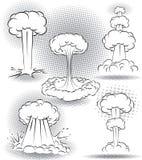 Explosions-Blasen Lizenzfreie Abbildung