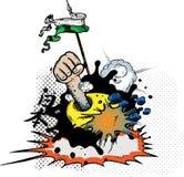 Explosions de bande dessinée Image stock