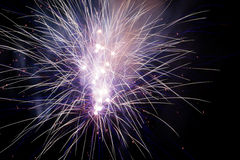 Explosions de feux d'artifice Photo stock