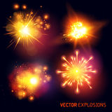 Explosions de vecteur Images stock