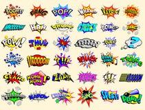 Explosions des textes de dessin animé Photo libre de droits