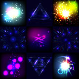 Explosions and fireworks vector set Royalty Free Stock Photos