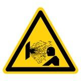 Explosions-Freigabe des Druck-Symbol-Zeichen-Isolats auf wei?em Hintergrund, Vektor-Illustration lizenzfreie abbildung
