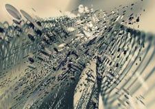 Explosionschrompartikel, dynamischer Hintergrund der abstrakten Wissenschaft lizenzfreie abbildung