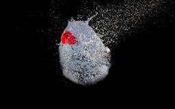 Explosiv ballong Fotografering för Bildbyråer