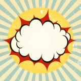 Explosiv bangsymbol Arkivfoto