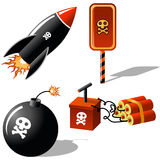 Explosive. Bombs, sign and dynamite Stock Photo