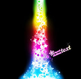 Explosive abstraction design. Vector illustration of an explosive stars abstraction design background Stock Image
