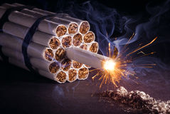 Explosive Addiction Royalty Free Stock Photo