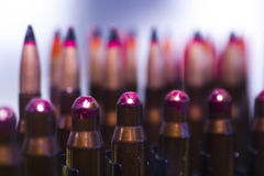Explosive ammo rounds Royalty Free Stock Photography