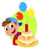 Explosive birthday cake Stock Photos