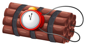 An explosive bomb Royalty Free Stock Image