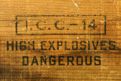 Explosive Box Royalty Free Stock Images