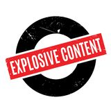 Explosive Content rubber stamp Stock Photos