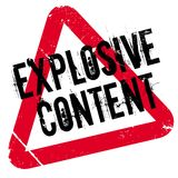 Explosive Content rubber stamp Royalty Free Stock Photo