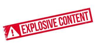 Explosive Content rubber stamp Royalty Free Stock Photos