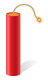 Explosive dynamite with a burning fuse vector illu Stock Photos