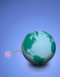 Explosive earth Stock Photo