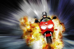 Explosive escape Stock Photography