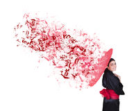 Explosive Geisha Lizenzfreie Stockbilder
