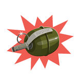 Explosive grenade surprise Royalty Free Stock Images