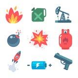 Explosive icons Stock Photo