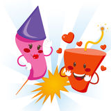 Explosive Love royalty free illustration