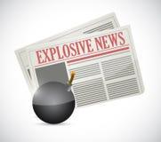 Explosive news concept illustration design Stock Photos