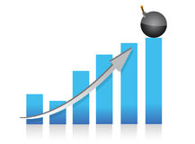 Explosive profits graph illustration design Royalty Free Stock Photo