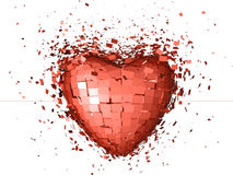 Explosive Red Heart Stock Photography