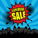 Explosive sale design Royalty Free Stock Photography
