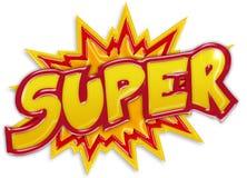 Explosive super label Royalty Free Stock Photos