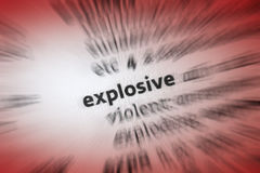 Explosive Royalty Free Stock Photography