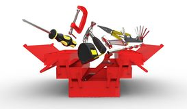 Explosive toolbox Royalty Free Stock Photography