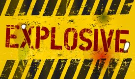 Explosive warning Royalty Free Stock Photography